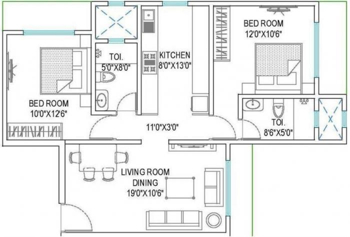 Crescent Grande, Mumbai - Floor Plan