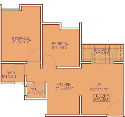 Maple Aapla Ghar Talegaon, Pune - Floor Plan