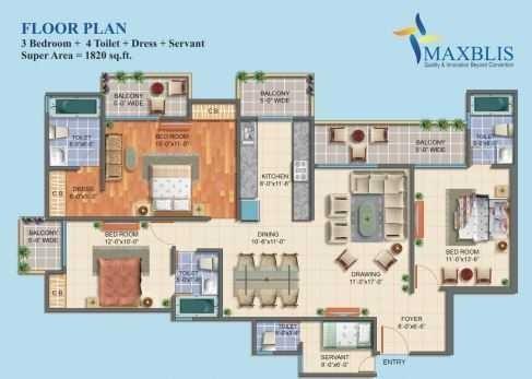 Maxblis White House Phase II, Noida - Floor Plan