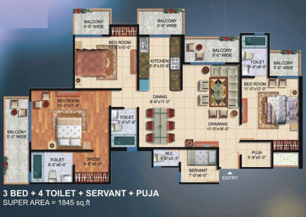 Newtech La Galaxia, GreaterNoida - Floor Plan