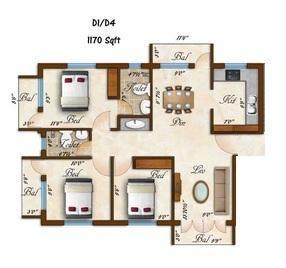 Rams Sarovar, Chennai - Floor Plan