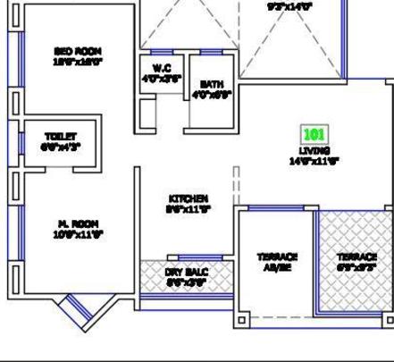Laxmi Shantiban Apartment, Pune - Floor Plan