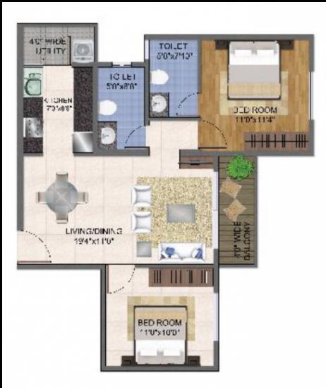 Master Classic Residency, Bangalore - Floor Plan