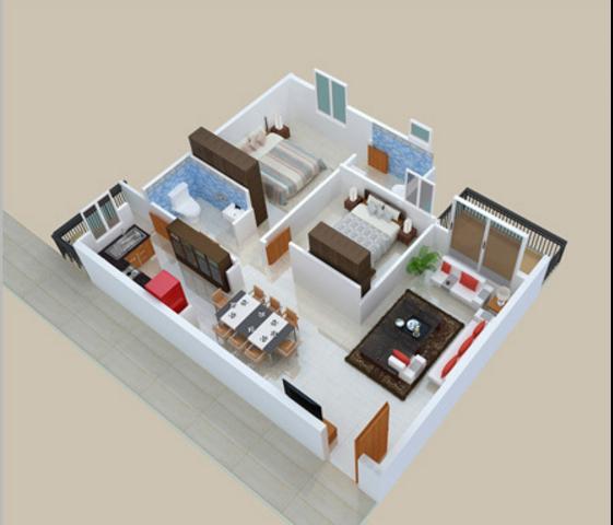 YGAM Brindhavanam Apartments, Bangalore - Floor Plan