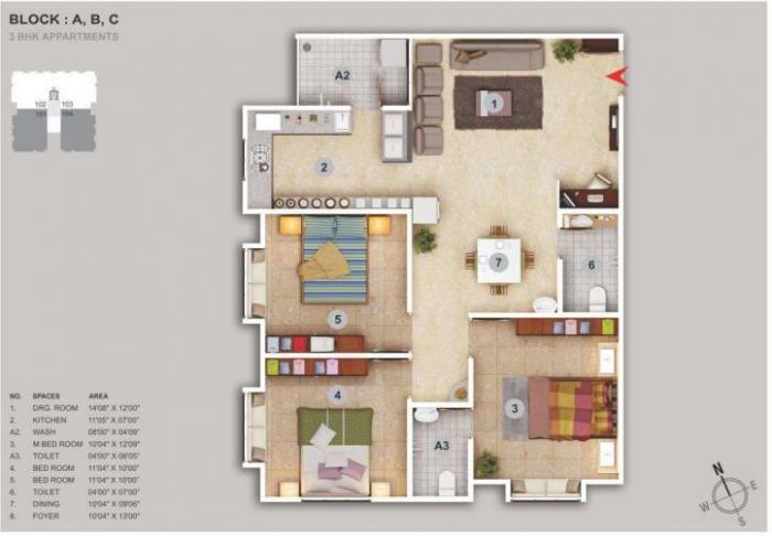 Karnavati Enclave, Ahmedabad - Floor Plan