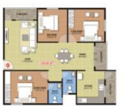 Saranya Springs, Bangalore - Floor Plan