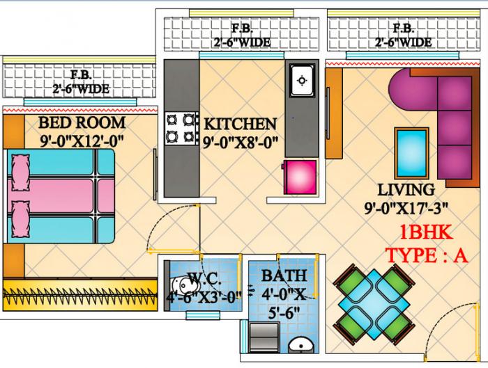 Arihant Anaika, NaviMumbai - Floor Plan