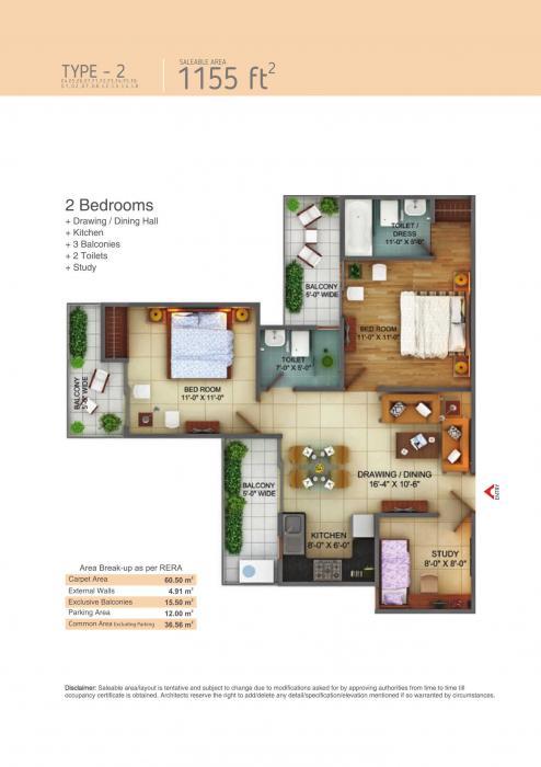Fusion Homes, GreaterNoida - Floor Plan