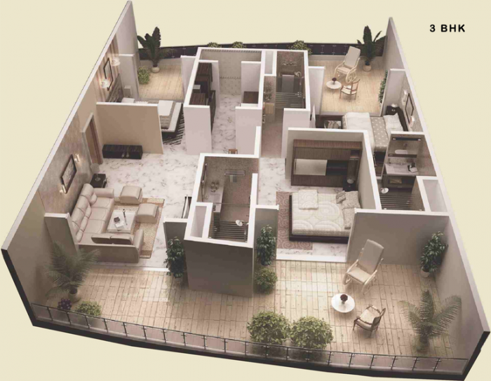JP Decks, Mumbai - Floor Plan