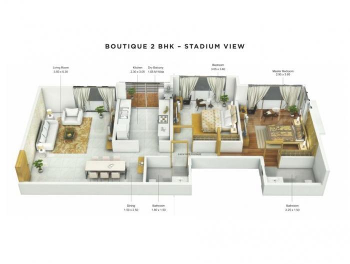 UK Sangfroid, Mumbai - Floor Plan